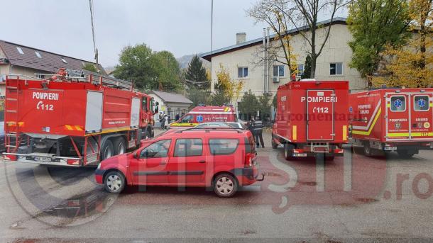 Pompierii, alertati la un spital din Arges dupa ce paznicula  dat cu spray lacrimogen dupa o pisica