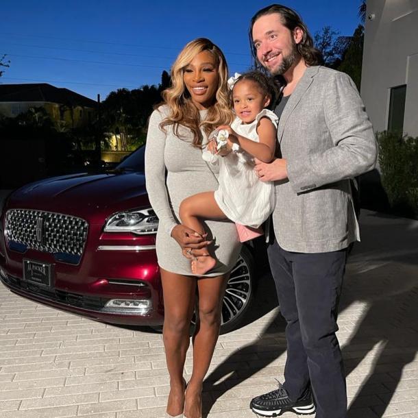 Alexis Ohanian, alături de soția sa, Serena Williams și fiica lor