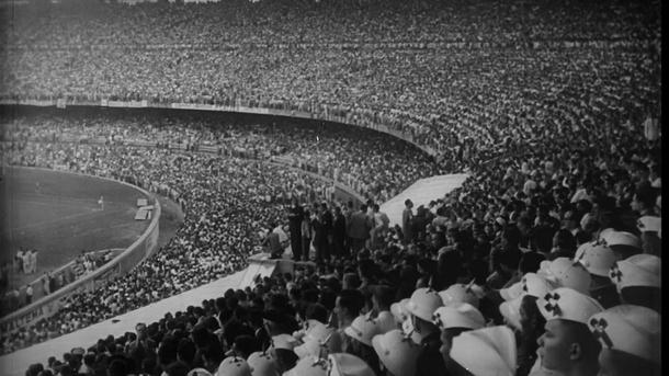Imagine din 1950, din finala Brazilia - Uruguay, 1-2, cu peste 200.000 de suporteri, în finala Campionatului Mondial